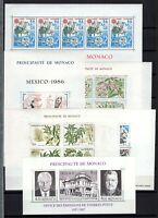 AP135167/ MONACO STAMPS – YEARS 1986 - 1988 MINT MNH MODERN LOT – CV 246 $