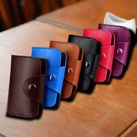 NE_ Unisex ID Credit Card Holder Pocket Case Purse Wallet For Cards Leather Char