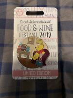 Disney 2019 EPCOT Food & Wine Festival Winnie the Pooh and Piglet Pin - LE