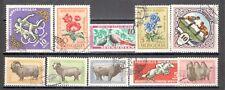 R9909 - MONGOLIA 1960 - LOTTO 10 DIFFERENTI TEMATICI DEL PERIODO - VEDI FOTO