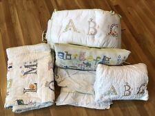 Euc Pottery Barn Kids Abc Crib Bedding Set Uni