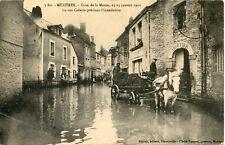 CARTE POSTALE / ARDENNES / MEZIERES CRUE DE LA MEUSE 1910 LA RUE COLETTE