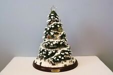 "Thomas Kinkade Village Christmas Illuminated Tree - 15"" - Bradford Editions"