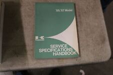 Kawasaki Oem Service Specifications Handbook Manual 1986-1987 Motorcycle & Atv