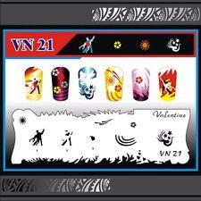 Nail Art Airbrush Stencil (VN 21-30)