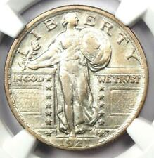 1921 Standing Liberty Quarter 25C - NGC VF Details - Rare Date Coin - Looks XF!