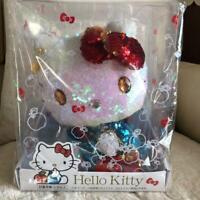 Sanrio Japan Hello Kitty 45th Anniversary Limited Sequin Spangle Plush Doll NEW