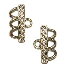 M5127f Antiqued Gold 25mm 3-Strand End Bar Metal Jewelry Component 6/pkg