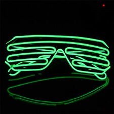 HOT Shades Sound Activated LED Flashing Clubbing Festival Party Glasses Green