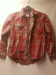 Wrangler boys 7/8 snap up shirt