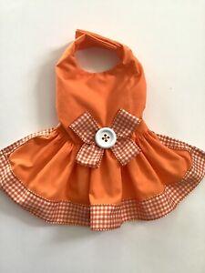 Handmade Sumer Orange Dog Dress Size medium