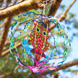Outdoor Whirligig Hanging Wind Spinner w/ Hook Wind Chime Patio Decoration