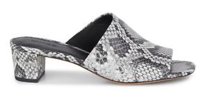 VINCE Ripley-B Sahara Sandals Snakeskin Embossed Leather Mule Sandals NIB