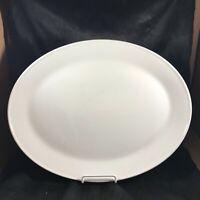 """Vintage JOHNSON BROTHERS 1H3 Ironstone White Oblong 15-1/2"""" Platter"""