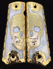 1911 Gun Grips Half Skull Springfield Colt Super Rock Island Cachas Super 38/45