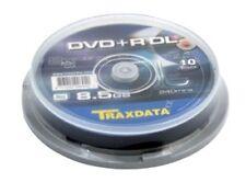 100 Traxdata Ritek S04 Dual Double Layer DVD+R DL 8x Blank Discs 8.5GB 240min