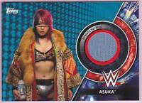 ASUKA 2018 TOPPS WWE WOMEN'S DIVISION SURVIVOR SERIES MAT RELIC BLUE #16/25