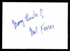 Mel Ferrer Karteikarte Original Signiert ## BC 30857
