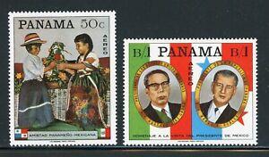 Panama MNH: Scott #C361-C361A Mexico President Diaz Ordaz Visit CV$6+