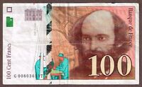 "France ""Paul Cezanne"" (1997) 100-Francs ""Final Issue"" {SINGLE} F+/VF Note: P158a"