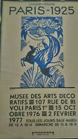 Grande affiche Art Déco Paris 1925 Robert Bonfils Musée des Arts Décoratifs