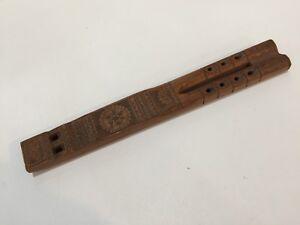 "Vintage Croatian / Yugoslavian Slavic Traditional Wooden Flute, 12 1/2"" Long"