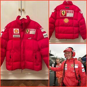Ferrari Marlboro F1 Fila down jacket Pit Crew Team Issue Schumacher Raikkonen