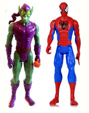 "Marvel Comics Green Goblin V Spiderman 10"" Titan giocattolo figura Hero & CATTIVO Set"