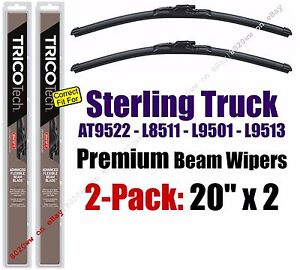 Wipers 2pk Beam fit 1999-2000 Sterling Truck AT9522 L8511 L9501 L9513 19200x2