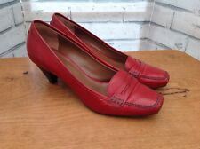 Hobbs Red Shoes UK 7, EU 40 Court Shoes Heels Leather Excellent Condition