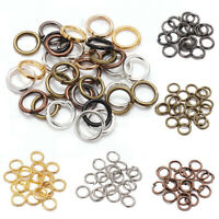 3-16mm Metal Open Jump Rings Split Rings Connectors For DIY Jewelry Making