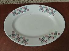Antiguo plato oval de cerámica art popular
