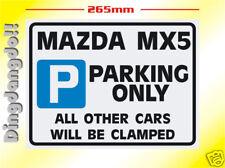 Mazda MX5 Parking Sign Novelty Gift Eunos Miata MX-5