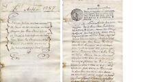 Carlos III. Ambel. (Zaragoza). ESCRITURA DE 1787- CON SELLO SEGUNDO CARLOS III.