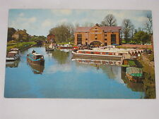 VINTAGE Shardlow Basin Postcard Trent and Mersey Canal England Water Channel