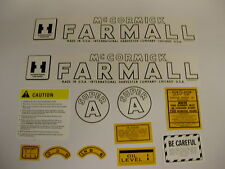 IHC Farmall Model Super A Tractor Decal Set - NEW FREE SHIPPING