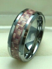Carbon Fiber size 10 Men 8mm Tungsten Carbide ring with