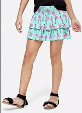 Justice Girls Size 12 FLAMINGO Print Smocked Skirt New with Tags