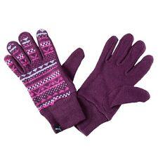 Puma Womens Gloves Akutan Acrylic Knitted Mauve Size Medium New