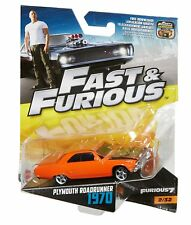 Hot Wheels Fast And Furious 6 Car No2/32 Plymouth Roadrunner 1970 1:55 scale