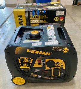 Firman 3,300-Watt Quiet Portable Gas Powered Inverter Generator Home RV Camping