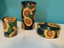 Sunflower Tin Set Home Decor Beautiful