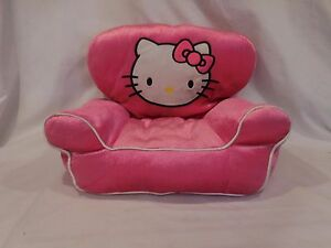 Build a Bear Hello Kitty Hot Pink Plush Doll Chair Seat Loveseat 2010 Retired