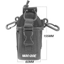 Black Walkie Talkie Nylon Pouch Holder Case Bag For WouXun KG-UVD1P UV6D 689 703