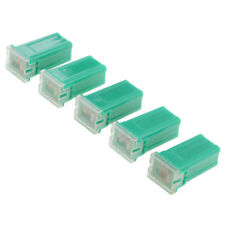 5 Pieces Car FLF-M Standard Female Push In Cartridge Fuses 40AMP 32V Green