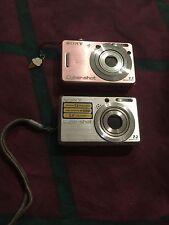 Sony Cyber-shot DSC 7.2 MP Digital Camera - Pink+silver 2pc Lot