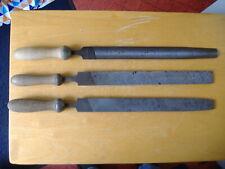 "THREE VINTAGE LARGE 14"" BLADE ENGINEERS STEEL HAND FILES.Engineers Blacksmiths"