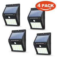 Waterproof 20 LED Solar Power PIR Motion Sensor Wall Light Outdoor Garden Lamp J