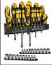 Kit 57 cacciaviti fissi e croce  bussole chiavi esagonali Stanley per  fai da te