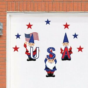 10-Piece Patriotic Gnome USA 4th Of July Garage Door Cover Magnets